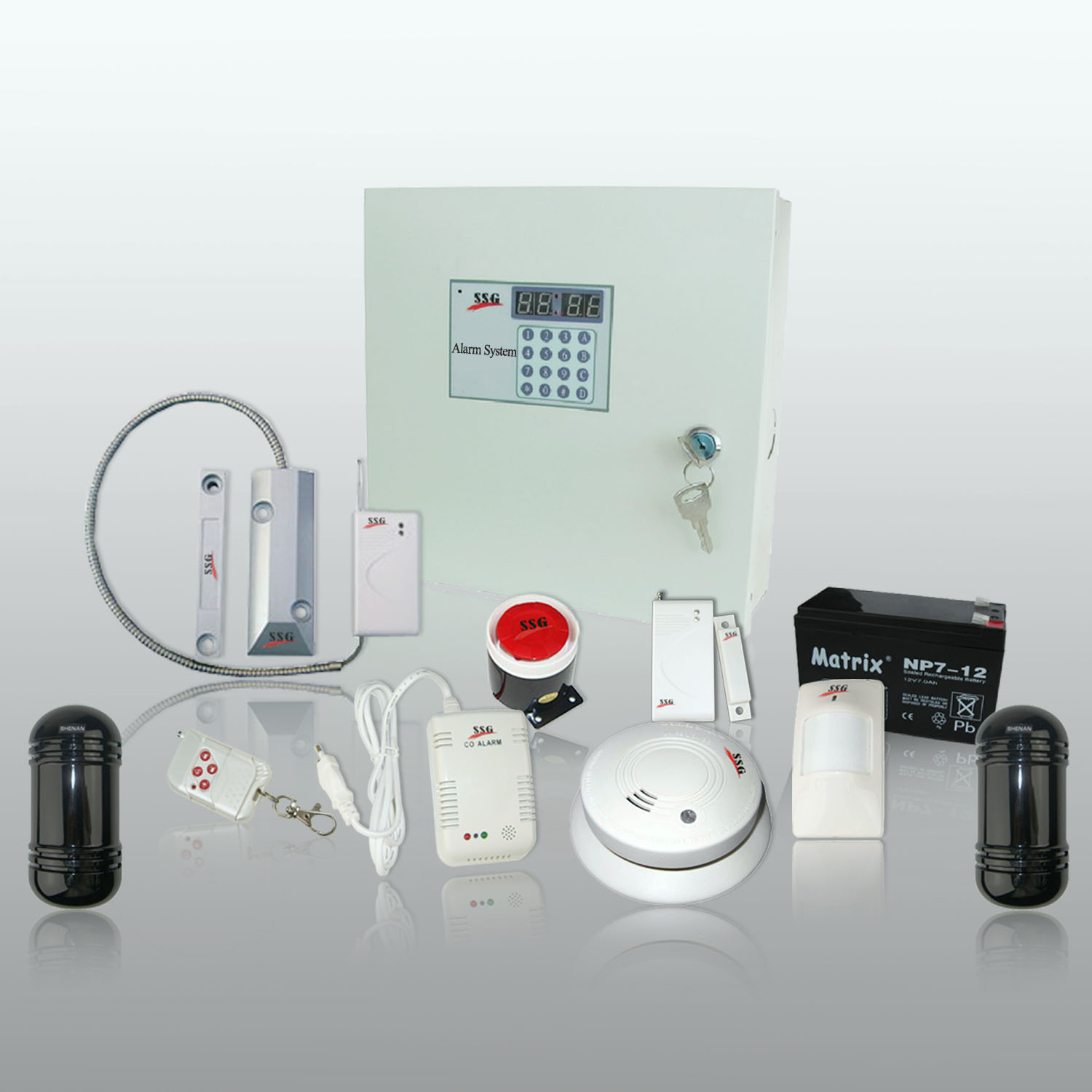 Product Information <- Long Distance PSTN Alarm System with 8/16 ...