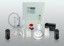 Long Distance Dual Network Alarm System with 8/16 Wired zone and 99 Wireless Zone